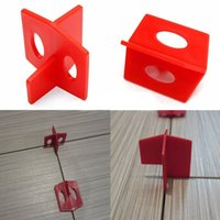 Wholesale 50Pcs Tile Leveling System Side Tile Spacer Cross And T Floor Wall Tile Tools