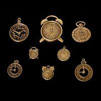 antique clock parts - Hot Sale Zinc Alloy Clock Charms Antique Bronze Plated Charm Pendant Vintage Jewelry Findings Accessories Parts