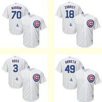 Wholesale Men s Chicago Cubs Ben Zobrist Jake Arrieta Joe Maddon David Ross White World Series Champions Team Logo Patch Player