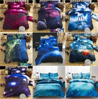 Wholesale 3D Printed Bedding Sets Pieces patterns Sky Poly Cotton Comforter Sets Brand Drop Shipping