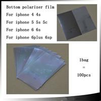 Wholesale 100pcs Original quality on the back polarized film For iPhone s s c s s plus lcd bottom Polarizer Film