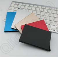Wholesale 5 Colors Thin Metal Rfid Card Protector Slim Aluminum Credit Card holder Wallet Case Cards Slide Out Gradually CCA5541