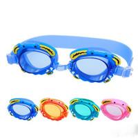 Oval baby swim equipment - 2017 children Diving Glasses Water underwater diving Equipment cartoon crab baby Goggles HD waterproof swimming glasses C2020