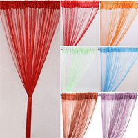 Vertical Roller Venetian Wholesale-Solid Color Tassel Line String Curtain Door Divider elegant Screen Panel