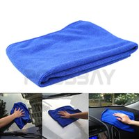 Wholesale Blue Soft Absorbent Wash Cloth Washing Towel Home Auto Car Care Microfiber Car Cleaning Cloth