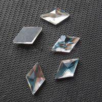 Wholesale rhombus shape crystal beads siam shiny stones x18mm strass crystal hotfix rhinestones iron on crystals