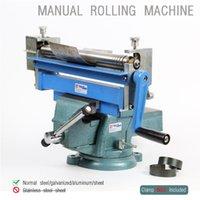 bend aluminum plate - Manual Steel Plate Rolling machine desktop small work steel galvanized aluminum sheet Bending Machine