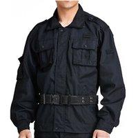 best security uniform - Lstest Version Suit Black Security Personnel Work Uniform Clothes Suit Full Size Best Selling Black Color Cotton Delicate Craft
