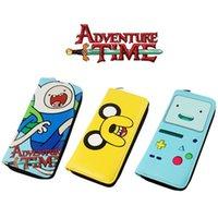 achat en gros de aventure bourse de temps-Adventure Time Portefeuilles cosplay Finn et Jake BMO Beemo Cute Porte-monnaie de bande dessinée Zipper Sacs long métrage sacs Enfants Cadeaux