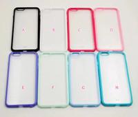 al por mayor mate iphone parachoques esmerilado-Parachoques Frost Matte híbrido Celular Celular dual Color Plástico duro + Soft TPU Funda de Silicona para el iPhone 7 I7 7P 4.7 / Plus 5.5 Skin Cover