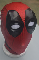 Wholesale New Deadpool Masks With Stereo Eye Cosplay Costume Halloween X men Hats Deadpool Cotton Rib Fabrics Full Face Mask
