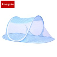 Wholesale Baby Bed Nets Folding Mosquito Nets New Portable Folding Baby Mosquito Nets Ship Type Babies Cradle Bed Infant Sleeping Cribs