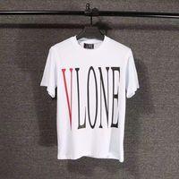 Wholesale Men Women Summer Style High Quality Cotton Hip Hop Street Short Sleeve Tees Friends Vlone T Shirt
