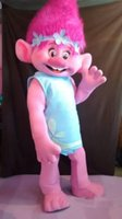 Wholesale New Mascot Costume Trolls Mascot Parade Quality Clowns Birthdays Troll