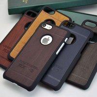 al por mayor estilos materiales-Caso del estilo de madera del diseño del vintage para el iphone 7 6 6S más 4.7 5.5 todo el caso duro material disponible de la cubierta de la PC
