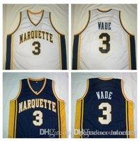 basketball custom jerseys cheap - Factory Outlet Cheap DWYANE WADE University Navy Blue White Basketball Jersey Embroidery Stitched Personalized Custom Jerseys