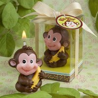 Wholesale Birthday party supplies creative birthday candles Smokeless candles zodiac animal sign monkey small candle gift DHL