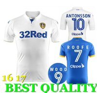 Wholesale 2016 Leeds United jerseys top thai quality home away shirts Football shirts WOOD ROOFE Jersey
