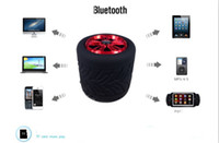 Wholesale 2016 High quality MINI wireless Bluetooth TF card small stereo speakers tire Handsfree outdoor Speaker