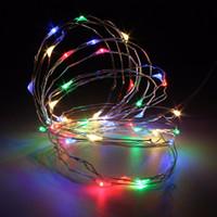 Al por mayor-mejor precio 4M batería operada 40 LED de alambre de alambre fiesta de Navidad de la boda de hadas al aire libre cuerda de luces decoración DC4.5V