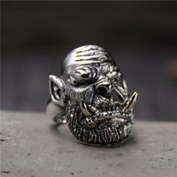 avatar ring - S925 Sterling Silver Ring Silver retro avatar domineering men shall ring EH221