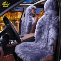 Wholesale Rownfur Natural fur Australian sheepskin car seat covers universal size for seat cover accessories automobiles D001 B