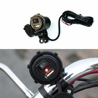 bicycle phone charger - Universal Motorcycle Waterproof USB Charger Adapter Electric Bicycle Handlebar Power Supply Port Socket For Phone Ipad GPS MP4