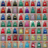 Wholesale 56 Styles Double Side Cape and Mask cm Super Hero Girl Capes with Masks for kids Christmas Halloween Cosplay Prop Costumes