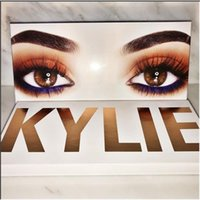 Wholesale Free DHL Kylie Jenner color Eyeshadow Palette With Brush Cosmetics Eye shadow Long Lasting Royal Peach Palette Kyshadow