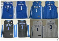 Men american sports teams - Duke Blue Devils Kyrie Irving V Neck Mens American College Stitched Embroidery Cheap Sports basketball Shirts Throwback pro team Jerseys