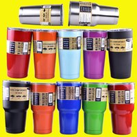 beer coolers - colorful oz oz Cups Cooler Rambler Tumbler Travel Vehicle Beer Mug Double Wall Bilayer Vacuum Insulated OTH242