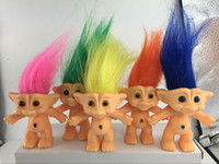 Wholesale 10cm Troll Doll Leprocauns Dam dolls Kids Toys WJ461 For Christmas free DHL