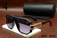 Fashion Woman Antireflection Cazal Eyewear 4018 Matte Black Cheap Germany Vintage Sunglasses Brand Designer Cazal Frames Mens Womens Retro Polarized Lens
