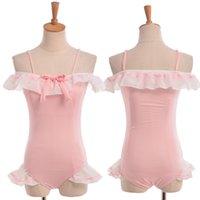 Maillots de bain rose filles Mignon Falbala Trim maillot rembourré One-Piece maillot de bain SUKUMIZU Cosplay Costume New Fast Shipment