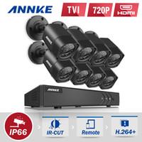 al por mayor sistema de cámaras de seguridad en el disco duro-ANNKE 8CH Sistema de cámaras de seguridad 1080N DVR Reordenar con disco duro de 1TB y (8) HD 1280TVL cámaras CCTV al aire libre con prueba de tiempo IP66 y M