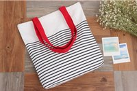 arrival reusable bags - New Arrival Korean Style Canvas Tote Bags Fashion Stripe Shopping Bag Large Capacity Reusable Bags Ladies Eco Bag