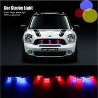 Precio de Emergency light-6x3 LED coche de policía de advertencia Strobe luces Flash Bomberos luz de emergencia lámpara 3 modos de iluminación de coches rojo y azul de iluminación