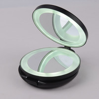 Wholesale LED makeup mirror make up mirror foldable pocket mirrors with magnification mirror for night travelling using