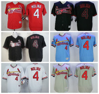 Wholesale 2017 St Louis Cardinals Ozzie Smith Yadier Molina Stan Musial Stitched Baseball Jerseys