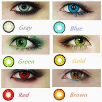 Wholesale Stock in USA CandyVision colors in stock Crazy Lenses Colorful Cosmetic contact lenses eye color Blood Red Eye Freeshipping