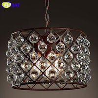 antique store fixture - Antique Crystal Pendant Lamp Home Decor LOFT Industrial Bar Coffee Store Suspension Lamp Classic Lighting Fixture