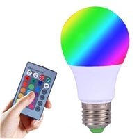 Wholesale New Arrival Led RGB Bulb Lights Mr16 E27B22G4 V W W Led Lamp With IR Remote Control Lampara A65 A70 A80