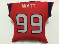 Wholesale Texans Sofa Cushion Red DeAndre Hopkins J J Watt Blue Fashion Player Throw Pillows