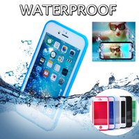 Plastic apple swim - 100 Water Proof Full Body Under Water Swimming Diving Protection Soft TPU Cover Case For iPhone S Plus S Samsung S7 DHL MOQ