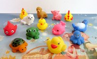 Wholesale The summer beach baby bath water with toy whistle children can send voice pinching called cute animals