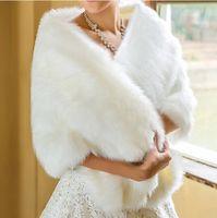 Wholesale Hot Sale Cheap Wedding Jacket Bride Wraps Cape Winter Wedding Dress Wraps Bolero Mariage Fourrure Bridal Coat Accessories