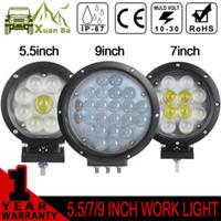 Wholesale XuanBa D Inch Round W Led Work Light V W Spot Beam Fog Lamp SUV ATV x4 Offroad W Driving Spot Lights Truck Boat Headlight