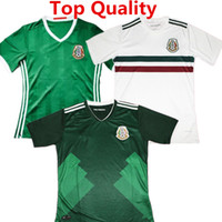 2017 México Camiseta de fútbol Javier Hernandez camisas 2018 CHICHARITO G DOS SANTOS VELA PERALTA México Inicio Blanco Verde Camisas Tailandia Calidad