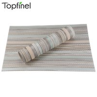 bamboo table tops - Top Finel Set of PVC Decorative Washable Placemats for Dining Table Runner Linens Heat resistant place mat Cup mat coaster pad