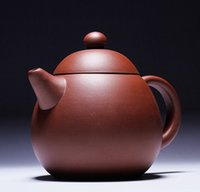 Wholesale China Yixing Purple Clay teapot Dragon egg shap High cm capacity ML Pure Handmade Process Tea Sets ECO Friendly Freeshipping